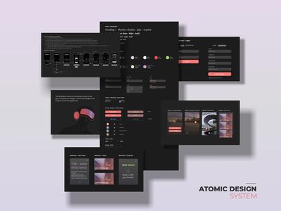 Atomic Design System app design virtual tour uidesign adobe xd uiux atomic design design system design ui design ui