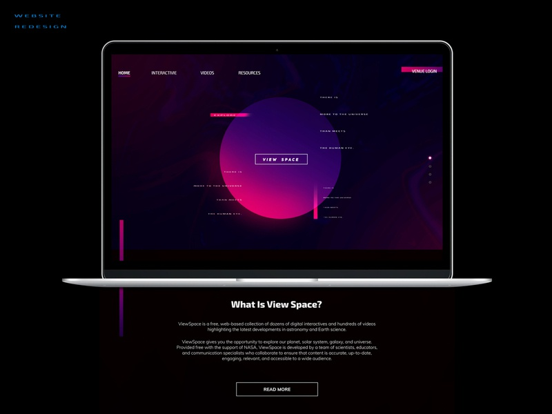 ViewSpace Homepage ReDesign