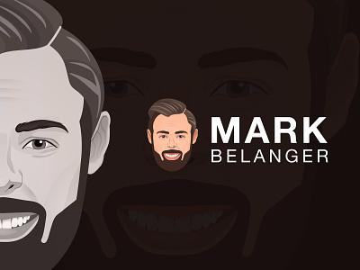 Mark Belanger photo to vector character logo logo a day design branding design branding photo to vector creative logo design challenge logo design logo vector illustration