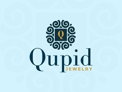 Qupid Jewelry Logo firstshot fashion brand mark logo mark brand identity logos logotype logodesign jewelry logo jewelry logo alphabet logo 3d logo design challenge branding vector logo design logo logo a day creative illustration