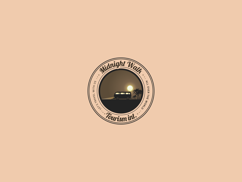 Midnight Walk tourism Inc. Logo, Daily Logo challenge #12 flat manipulation icon typography design art logos logo design branding design logo design concept vector logo design challenge illustration logo alphabet logo 3d creative clean branding logo animation logo a day logo