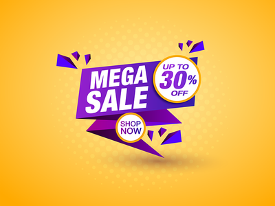Mega Sale vector illustration