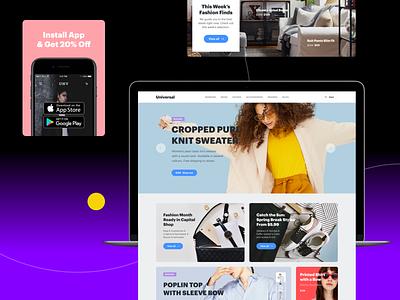 Universal Kit website web ux ui design product design interface ui web design