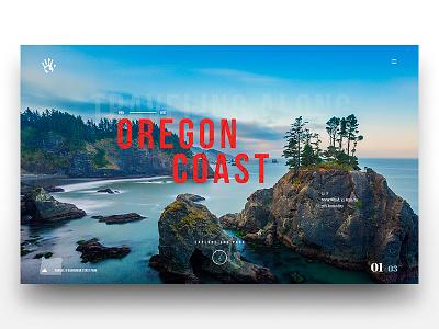 The Oregon Coast ui design visual design modern layout travel explore photography landscape bebas neue coast oregon