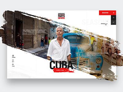 Cuba condensed font parts unknown web design cnn travel bourdain