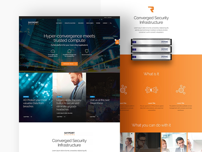Skyport Systems responsive design web design for it data room security it security hardware and software web design skyport systems