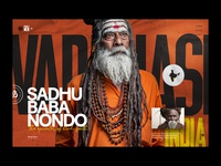 Holy Men of India graphicdesign modern homepage condensed font sans serif texture website art direction india editorial layout portrait typography holy men of india
