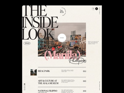 Manila editorial design travel journalism shapes web design graphic design clean minimal modern typography design philippines