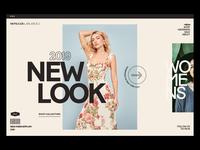 Moncler sale collection online shop fashion design art direction typography women fashion modern web design visual design