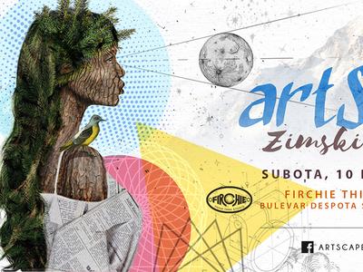 Poster design for ArtScape winter market