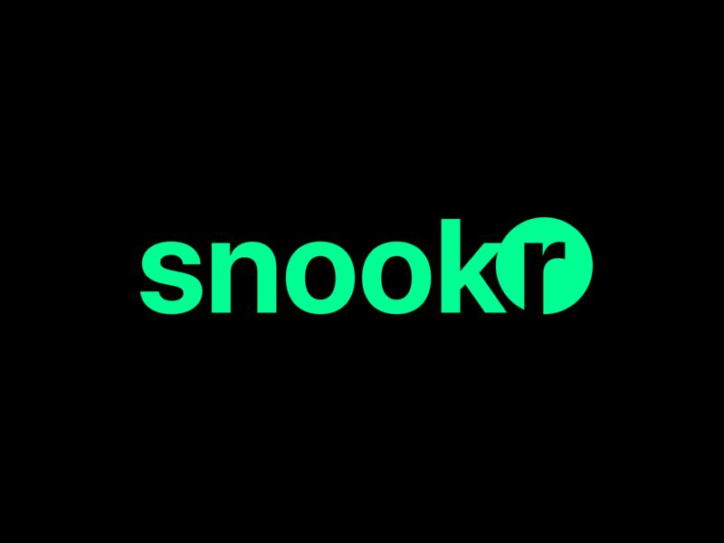 Snookr, a snooker scoreboard cue ball circle scoreboard snookr branding design snooker pool mobile billiard app logo