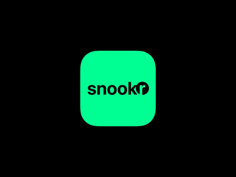 Snookr, a snooker scoreboard iphone appicon ios icon scoreboard snookr design cue circle branding ball snooker pool mobile billiard app logo