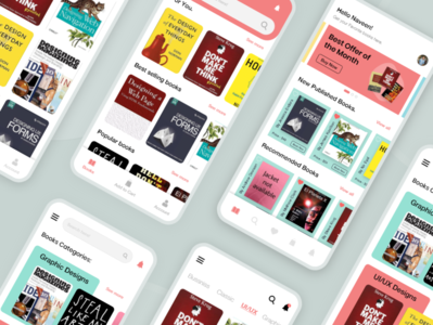 Book selling app branding typography design ui bookselling thougtful dailyui creative design adobe xd colorful uiuxdesign