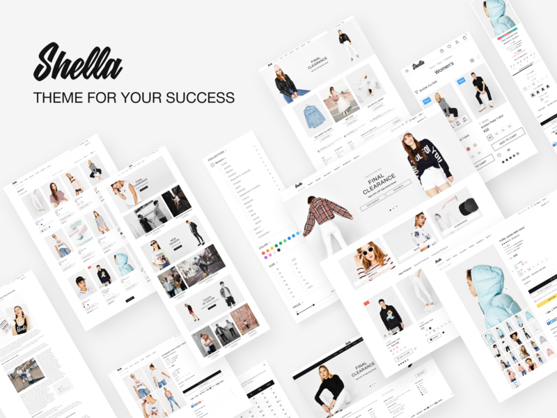 Shella - eCommerce theme for your shop. Shopify, WooCommerce
