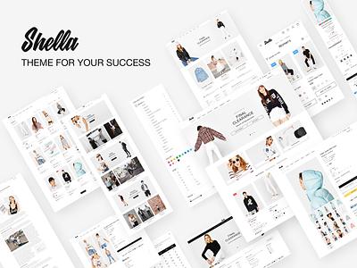 Shella - eCommerce theme for your shop. Shopify, WooCommerce fashion shop ecommerce website web ux ui design