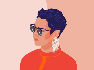 Portrait of my favorite actress Irina Gorbacheva celebrities vector illustration vector design vector drawing portrait poster sketch girl design simple illustration simple design simple adobe photoshop adobe illustrator adobe illustraion digitalart art illustrator
