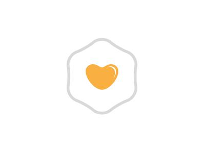 Brunch Club yellow hexagon branding identity icon mark logo heart egg