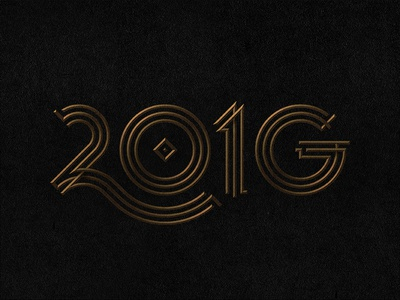 2016 Gatsby New Year's  gold g nye new years 2016 numbers geometry gatsby lines type