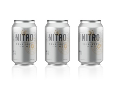 Nitro logo identity branding seal badge beer can typography type packaging cold brew coffee