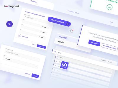 Fundingport- banking app webapp webapplication webdesign application uidesign ux design ui ux product design software product design