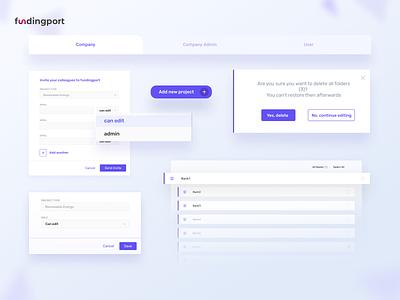 Fundingport- banking app stepwise desktop design desktop app appdesign webdesig banking app bankingapp finance app finance uxdesigns ui uxdesign ux product design