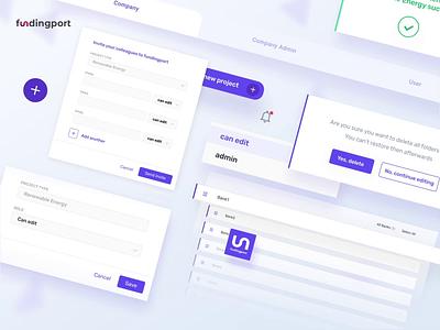 Fundingport- banking app minmal clean ux  ui fintech banking website banking dashboard bankingapp financing uxui animation app web product design ux design ui ux