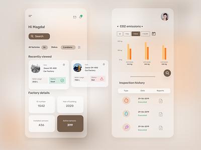 Digital Factory Passport productdesign figma ux ui design concept mobile app