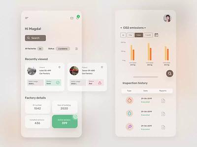 Digital Factory Passport concept product design figma design ux ui