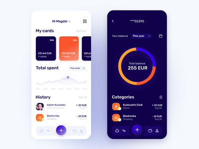 Banking mobile application interface mobile uxui concept app figma product design design ux ui