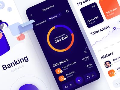 Banking mobile application uxdesign mobile concept uidesign app figma product design design ux ui