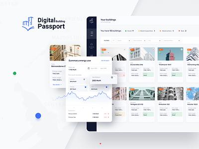 Digital Building Passport consumption energy investment buildings uxdesign mobile uidesign app figma product design design ux ui