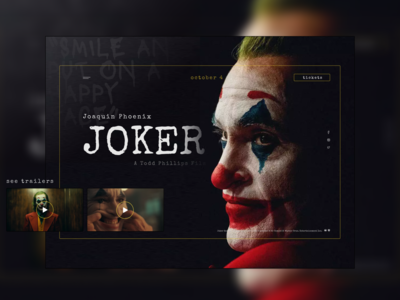 """Joker"" welcome screen"