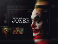 """Joker"" welcome screen website concept web design design uiux uidesign ux ui website cinema joker"