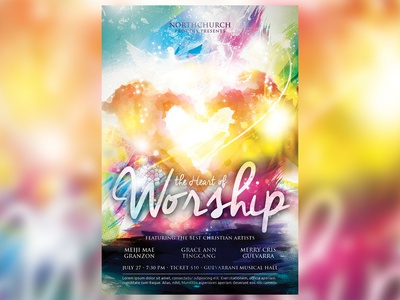 Heart of Worship Church Flyer