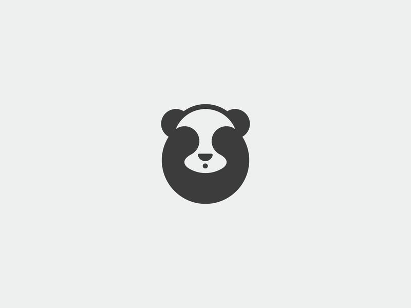 :see_no_evil: :panda_face: / Symbol panda bear symbol panda sign icon illustration mark brand branding logo