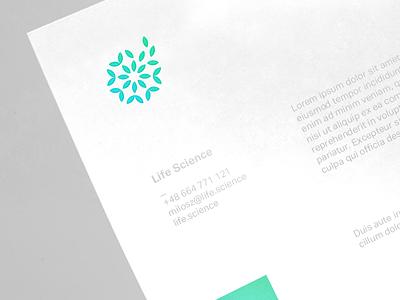 Life Science green leaves leaf logo letterhead branding science life