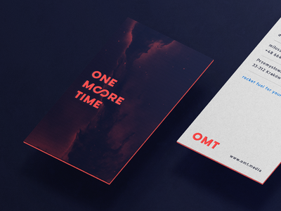One More Time — Business Cards infinity more galaxy typography media agency space logo branding cards card business
