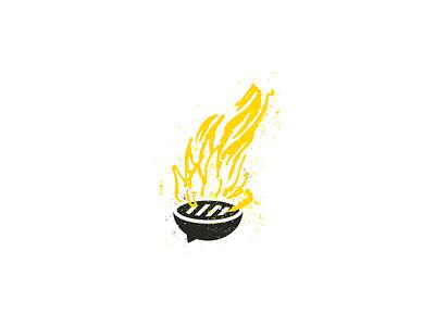 Bonfire - Startup Community Kick Off speech bubble bonfire retro off kick community grill bbq startup branding logo