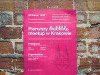 Dribbble Krakow Meetup - Poster