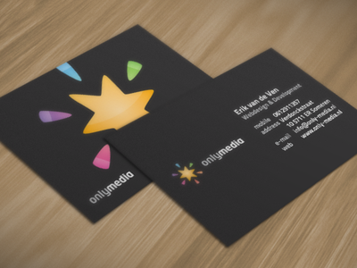 OnlyMedia Business Card branding logo only media business card business card