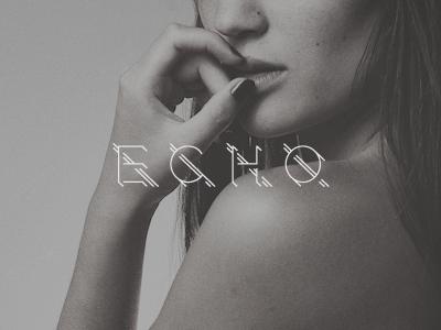 ECHO typography type custom echo mag magazine online offline iphone 4 wallpaper glamour logo modern logotype branding
