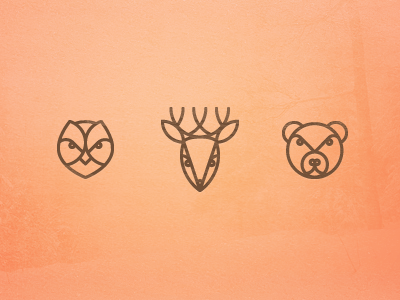 Forest Life wallpaper iphone mighty shy brave dont hunt animals icon animal bear owl deer collective wise illustration goodie download poland