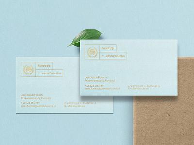 Fundacja im. Jana Palucha outline sport motor foundation corporate identity business cards logo