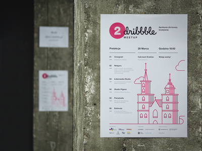 2 Dribbble Meetup in Kraków! illustartion meetup poland krakow poster dribbble