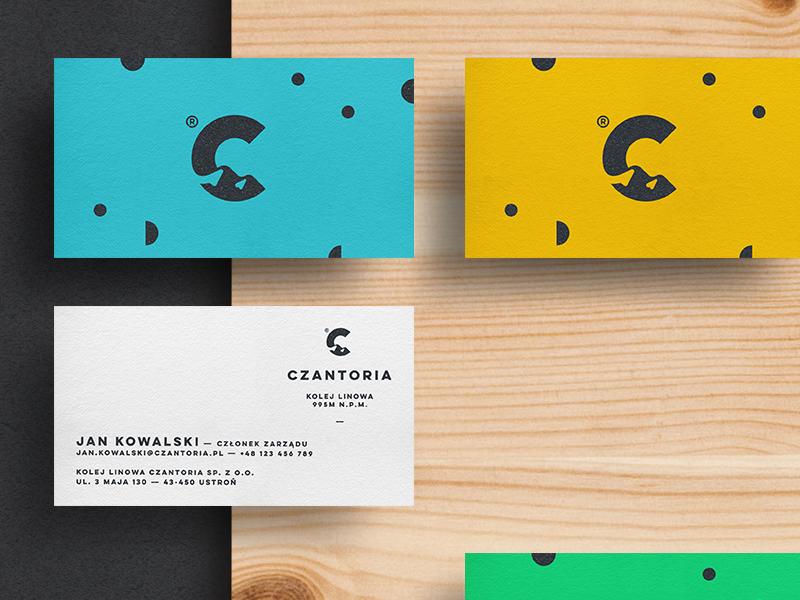 Czantoria —Business Cards branding business card space negative hills c logo