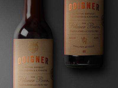 Odigner - Brand and Label design label packaging beer norway odign logo branding