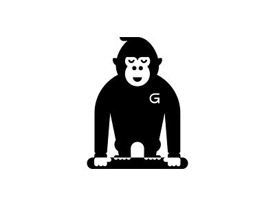 Gorilo space negative g animal gorilla branding hero brand