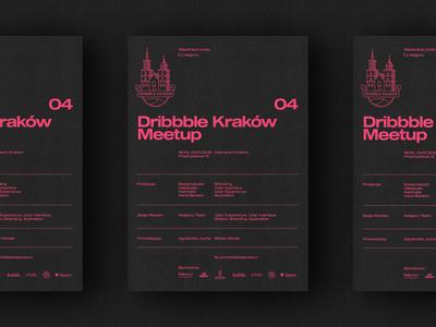 04 Dribbble Krakow Meetup - Poster