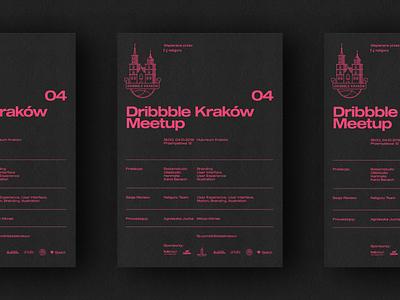 04 Dribbble Krakow Meetup - Poster netguru cracow kraków meetup dribbble identity branding poster