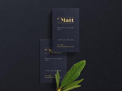 Dr Matt - Brand Design business cards design branding brand grzesiak mateusz matt doctor coach personal